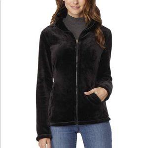 32 degrees black zip up jacket